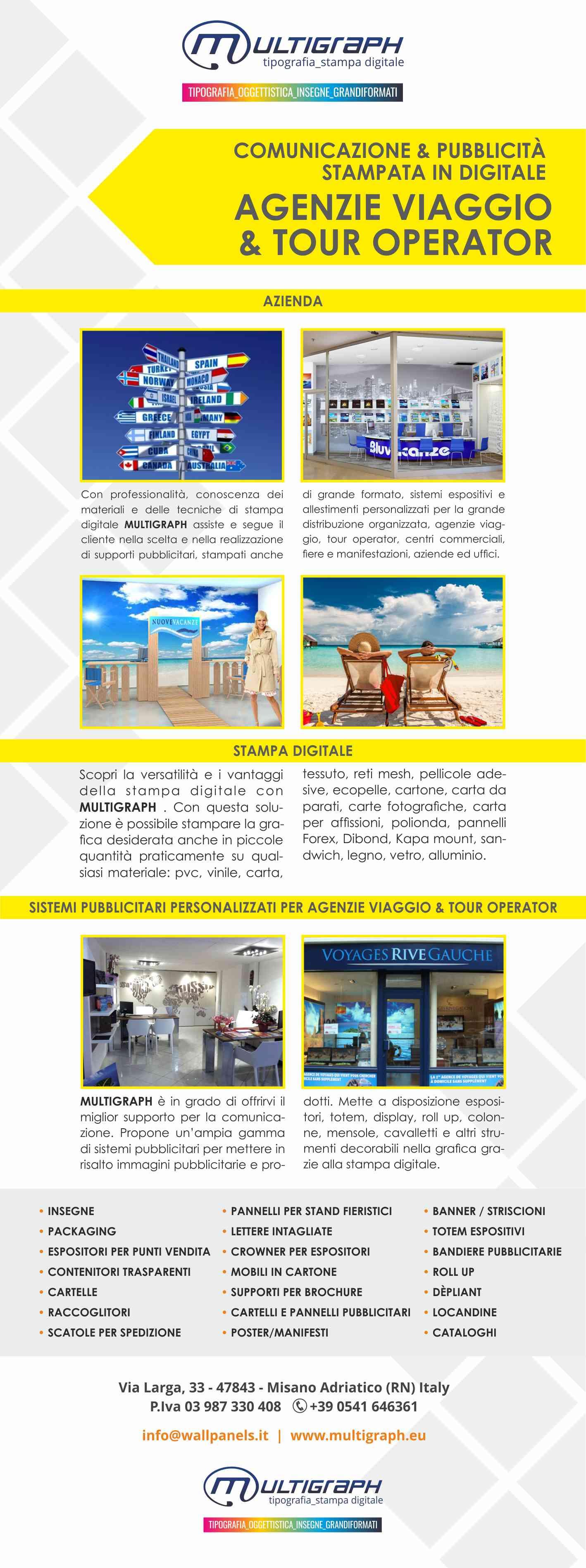 Pubblicita' agenzie di viaggio e tour operator